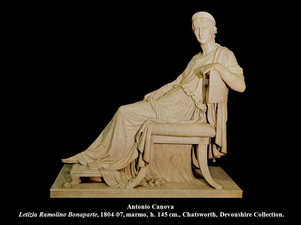Antonio Canova Letizia Ramolino Bonaparte, 1804-07, marmo, h. 145 cm., Chatsworth, Devonshire Collection.