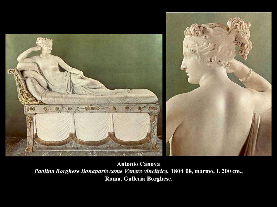 Antonio Canova Paolina Borghese Bonaparte come Venere vincitrice, 1804-08, marmo, l. 200 cm., Roma, Galleria Borghese.