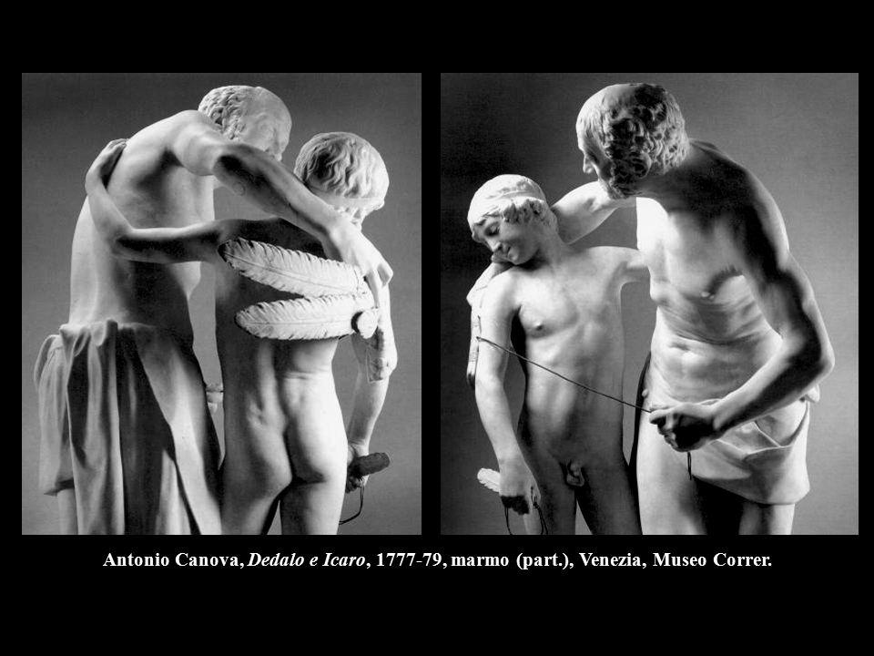 Antonio Canova, Dedalo e Icaro, 1777-79, marmo (part.), Venezia, Museo Correr.