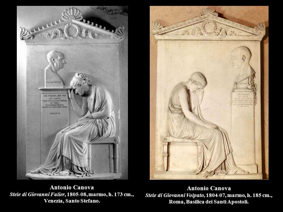 Antonio Canova Stele di Giovanni Falier, 1805-08, marmo, h. 173 cm., Venezia, Santo Stefano. Antonio Canova Stele di Giovanni Volpato, 1804-07, marmo,