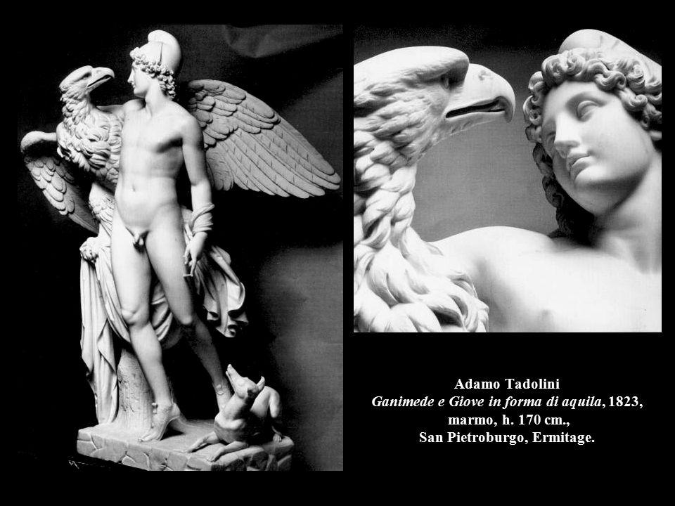 Adamo Tadolini Ganimede e Giove in forma di aquila, 1823, marmo, h. 170 cm., San Pietroburgo, Ermitage.