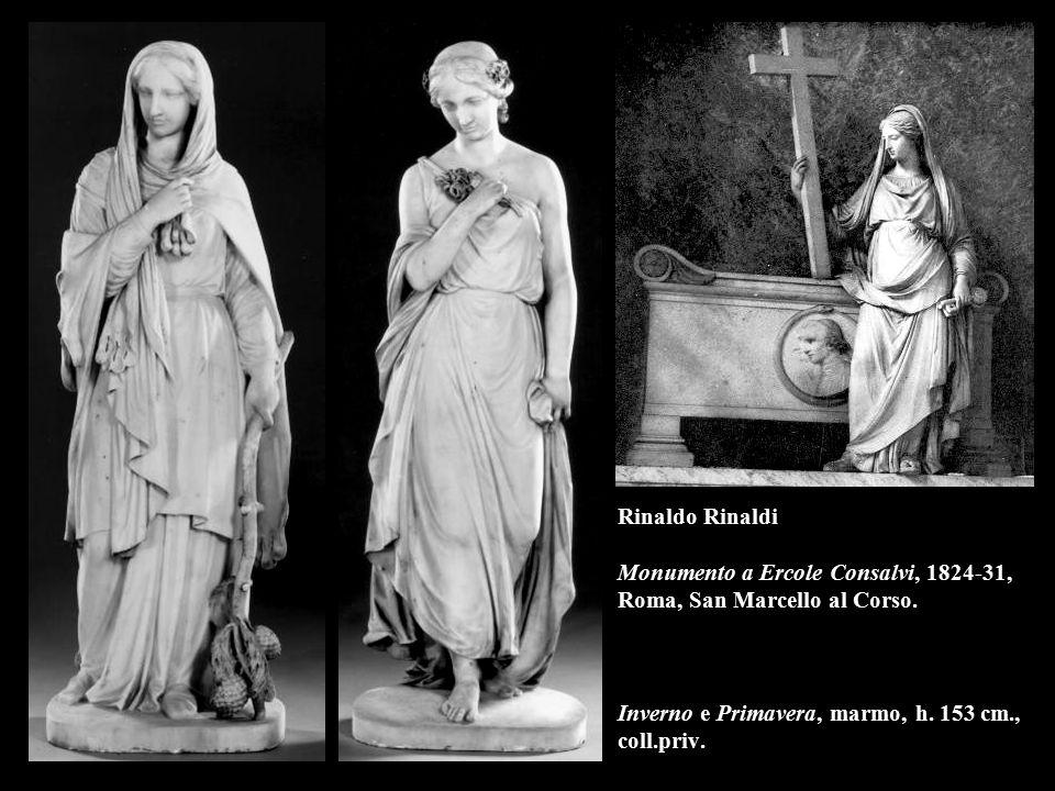 Rinaldo Rinaldi Monumento a Ercole Consalvi, 1824-31, Roma, San Marcello al Corso. Inverno e Primavera, marmo, h. 153 cm., coll.priv.