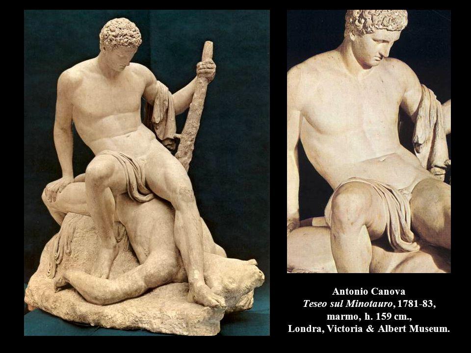 Antonio Canova Teseo sul Minotauro, 1781-83, marmo, h. 159 cm., Londra, Victoria & Albert Museum.