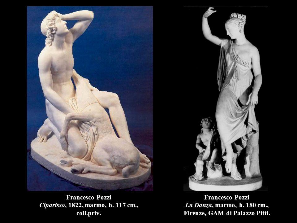 Francesco Pozzi Ciparisso, 1822, marmo, h. 117 cm., coll.priv. Francesco Pozzi La Danza, marmo, h. 180 cm., Firenze, GAM di Palazzo Pitti.