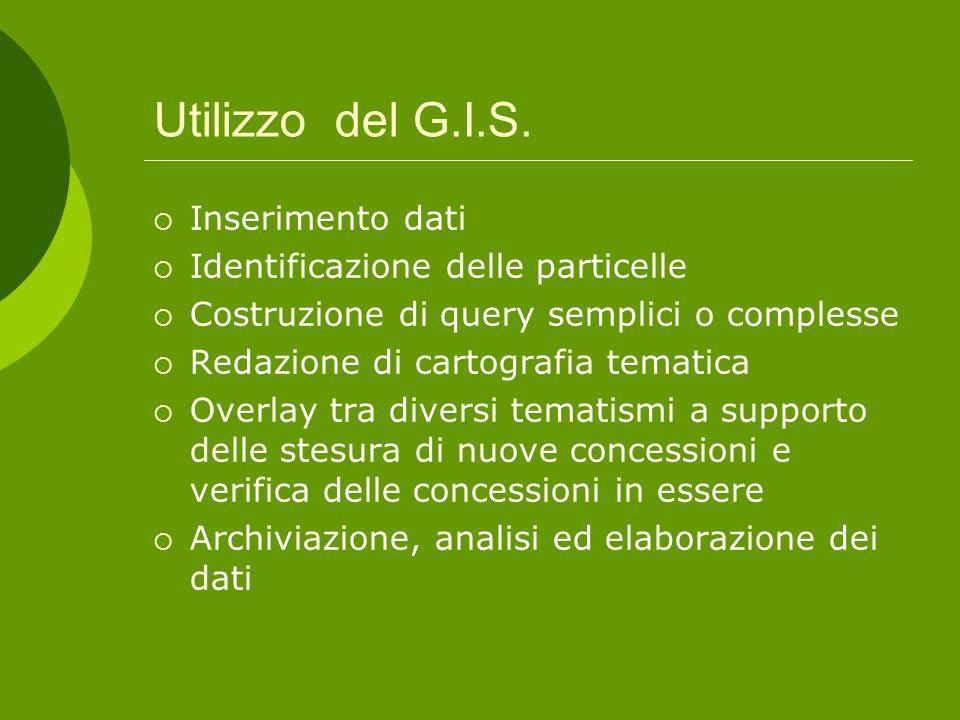 Utilizzo del G.I.S.