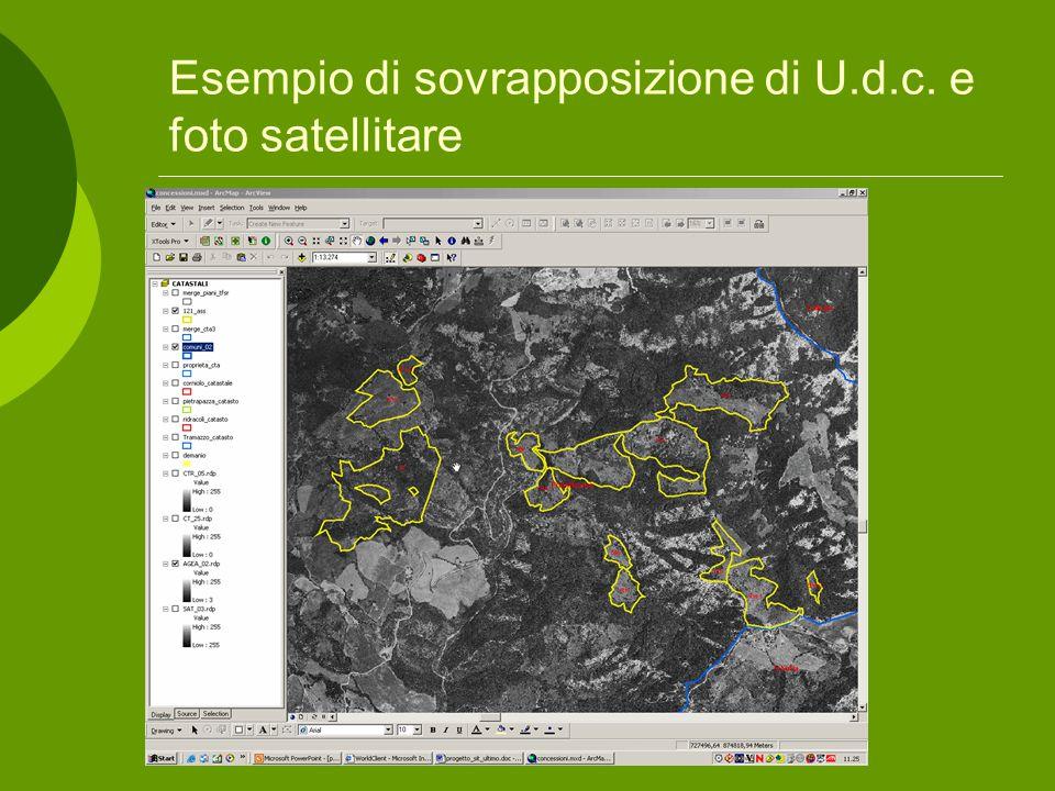 Esempio di sovrapposizione di U.d.c. e foto satellitare