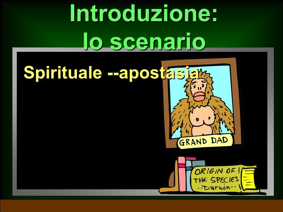 Introduzione: lo scenario Sociale -- immoralità