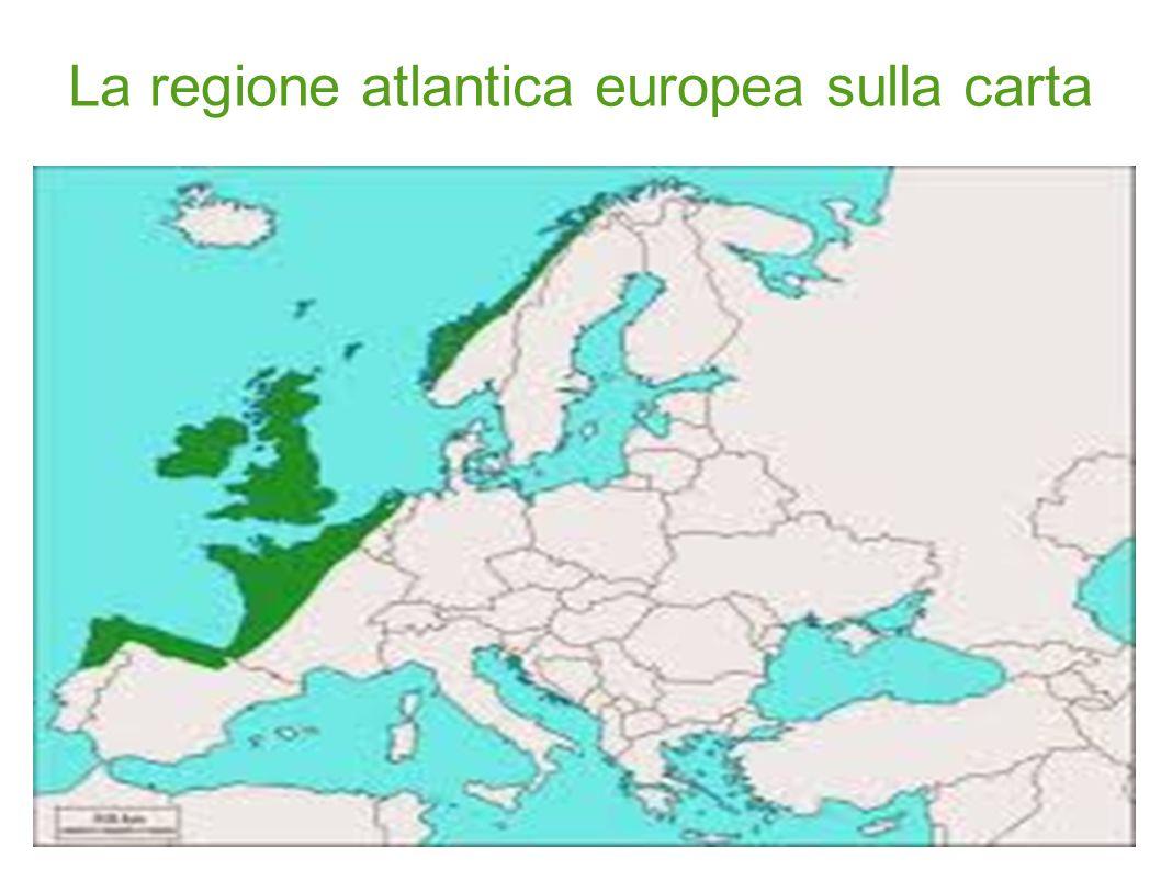 La regione atlantica europea sulla carta