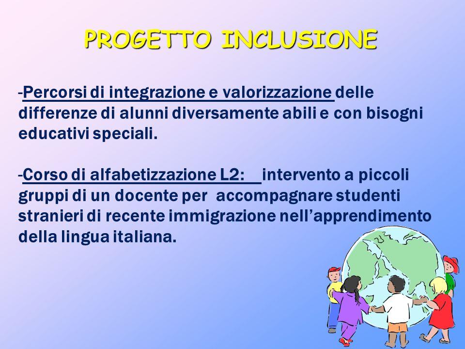 PROGETTO INCLUSIONE -Percorsi di integrazione e valorizzazione delle differenze di alunni diversamente abili e con bisogni educativi speciali. -Corso