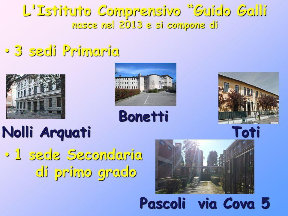 """L'Istituto Comprensivo """"Guido Galli nasce nel 2013 e si compone di 3 sedi Primaria 3 sedi Primaria 1 sede Secondaria 1 sede Secondaria di primo grado"""