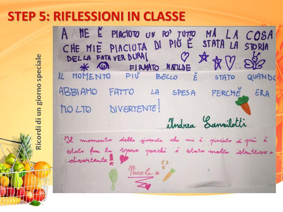 STEP 5: RIFLESSIONI IN CLASSE Ricordi di un giorno speciale