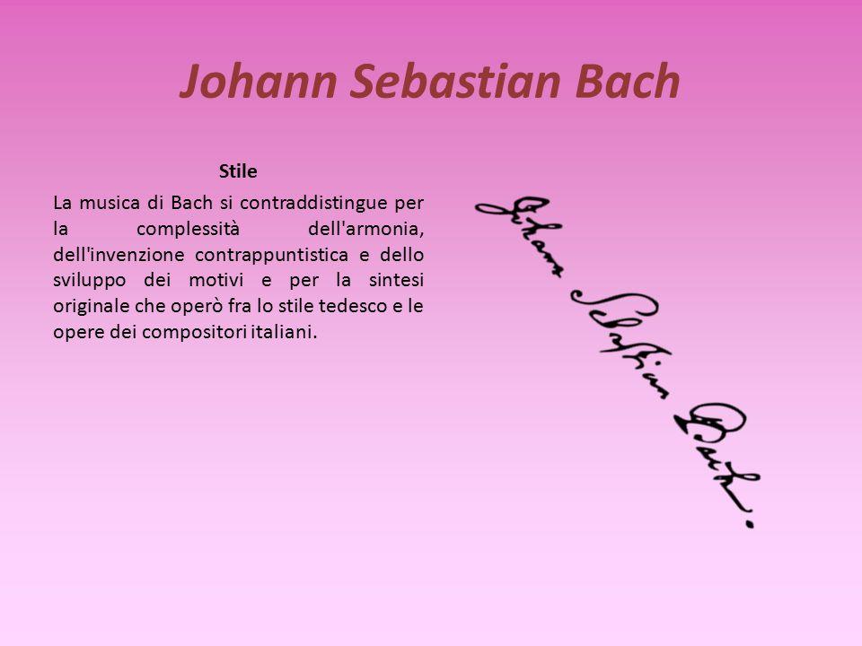 Johann Sebastian Bach Biografia Bach nacque nel 1685 ad Eisenach da famiglia di musicisti. Frequentò il ginnasio ma non poté iscriversi all'università
