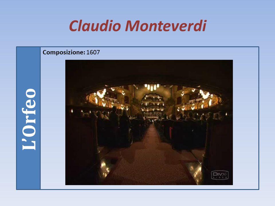 Claudio Monteverdi Opere Monteverdi si dedicò soprattutto alla composizione di madrigali nella prima parte della sua vita (pubblicò nove libri), successivamente sperimentò il genere dell'opera lirica a carattere drammatico (ricordiamo tra quelli che ci sono rimasti L'Orfeo, Il ritorno di Ulisse in patria, L'incoronazione di Poppea, Il combattimento di Tancredi e Clorinda).
