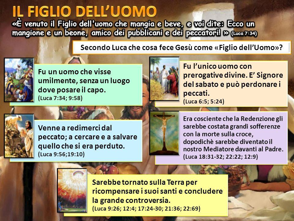 Secondo Luca che cosa fece Gesù come «Figlio dell'Uomo».