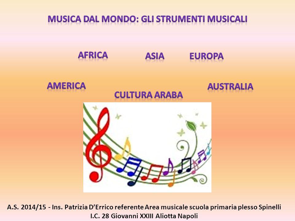 A.S. 2014/15 - Ins. Patrizia D'Errico referente Area musicale scuola primaria plesso Spinelli I.C. 28 Giovanni XXIII Aliotta Napoli