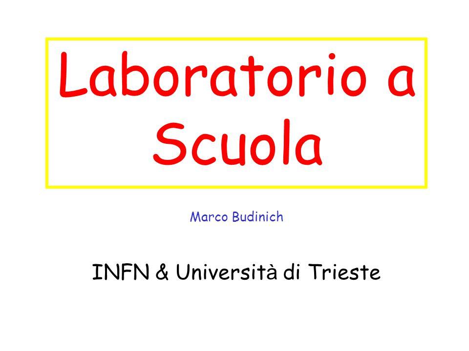 Laboratorio a Scuola Marco Budinich INFN & Universit à di Trieste