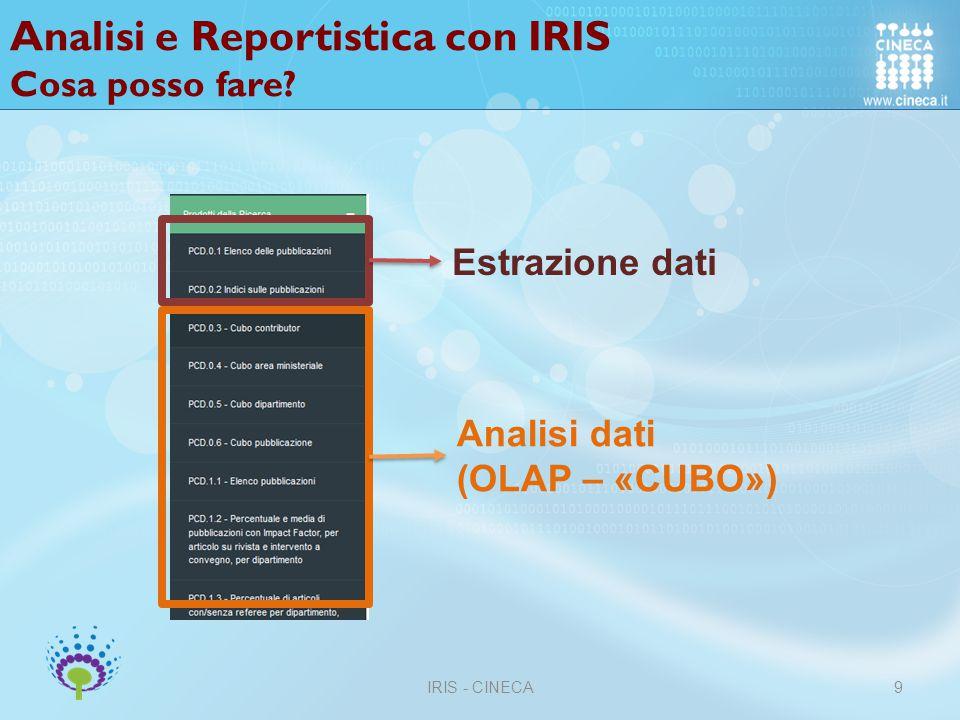 Analisi e Reportistica con IRIS Chi vede cosa.