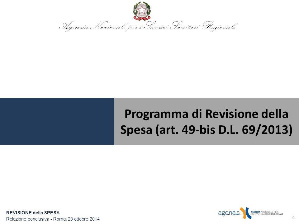 4 Programma di Revisione della Spesa (art.49-bis D.L.