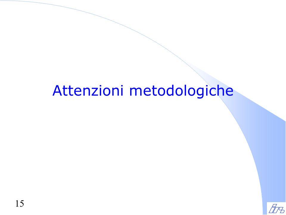15 Attenzioni metodologiche