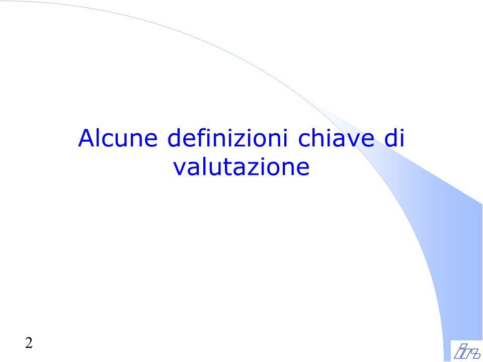 2 Alcune definizioni chiave di valutazione