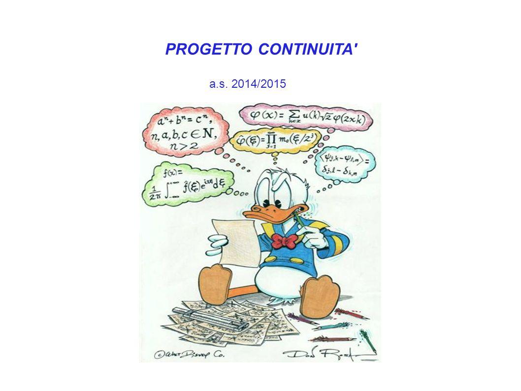 PROGETTO CONTINUITA' a.s. 2014/2015