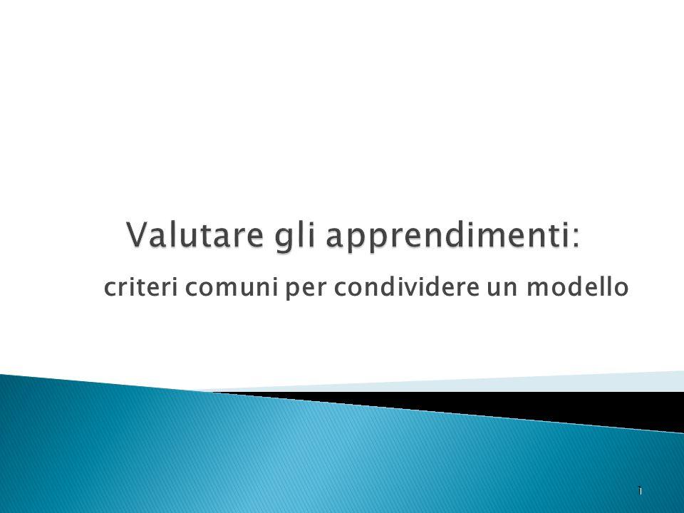 criteri comuni per condividere un modello 1 1