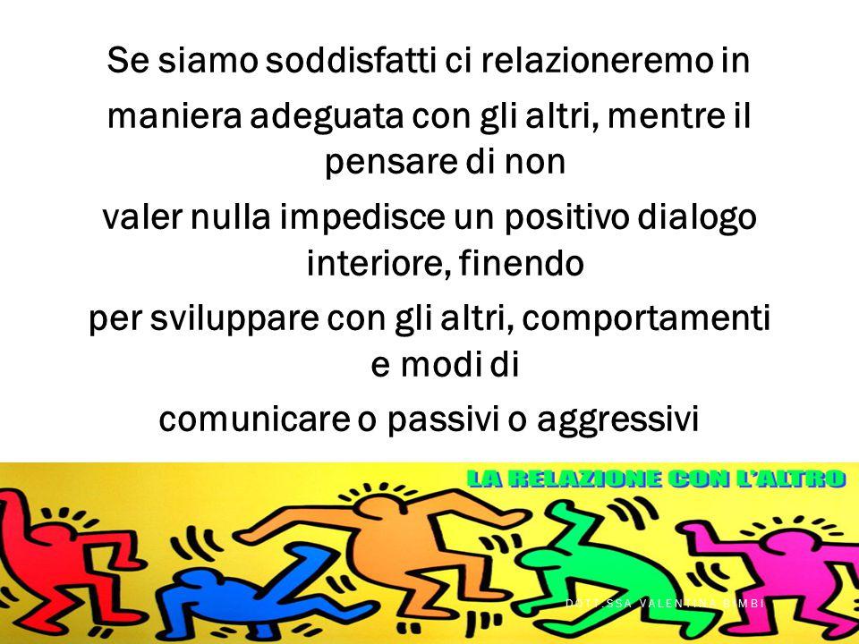 L'autostima è il propellente necessario per sviluppare una buona condotta assertiva; il volersi bene, il pensare di valere, essere sicuri delle propri