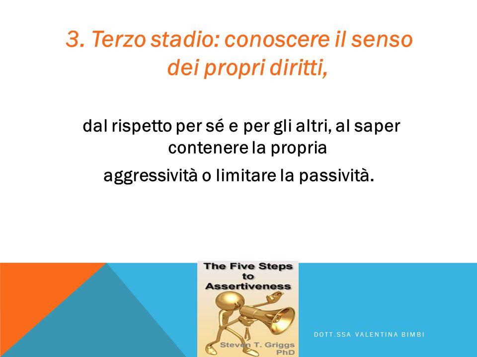 2. Secondo stadio: libertà di espressione, che significa adottare e riconoscersi la capacità di comunicare emozioni e sentimenti, anche negativi, attr