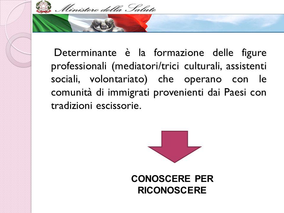 Determinante è la formazione delle figure professionali (mediatori/trici culturali, assistenti sociali, volontariato) che operano con le comunità di i