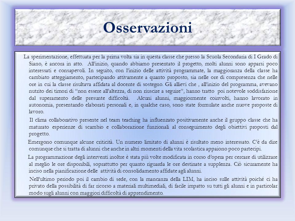 Altre informazioni Risultati attesi: raggiungimento degli obiettivi individuati attraverso l'uso di abilità trasversali, maggiore competenza linguisti