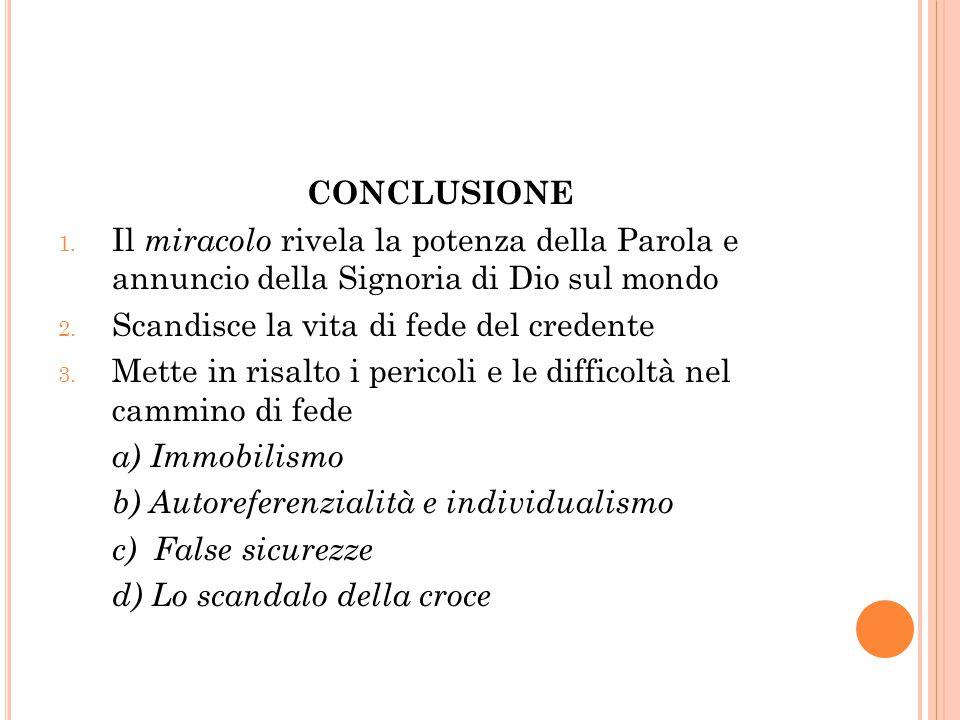 CONCLUSIONE 1.