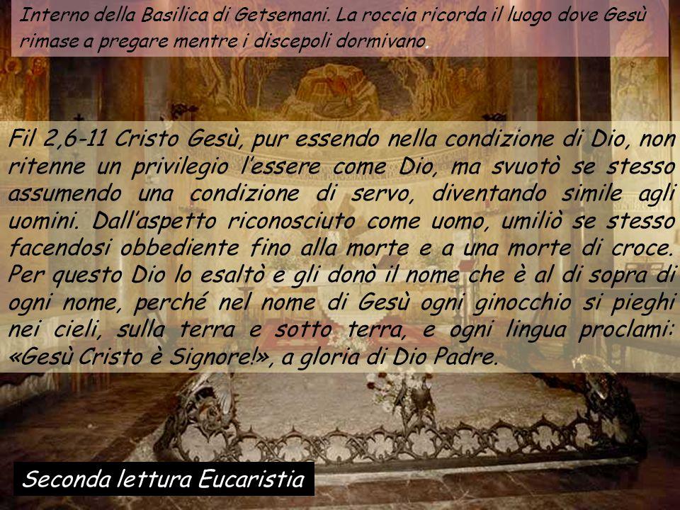 Interno della Basilica di Getsemani.
