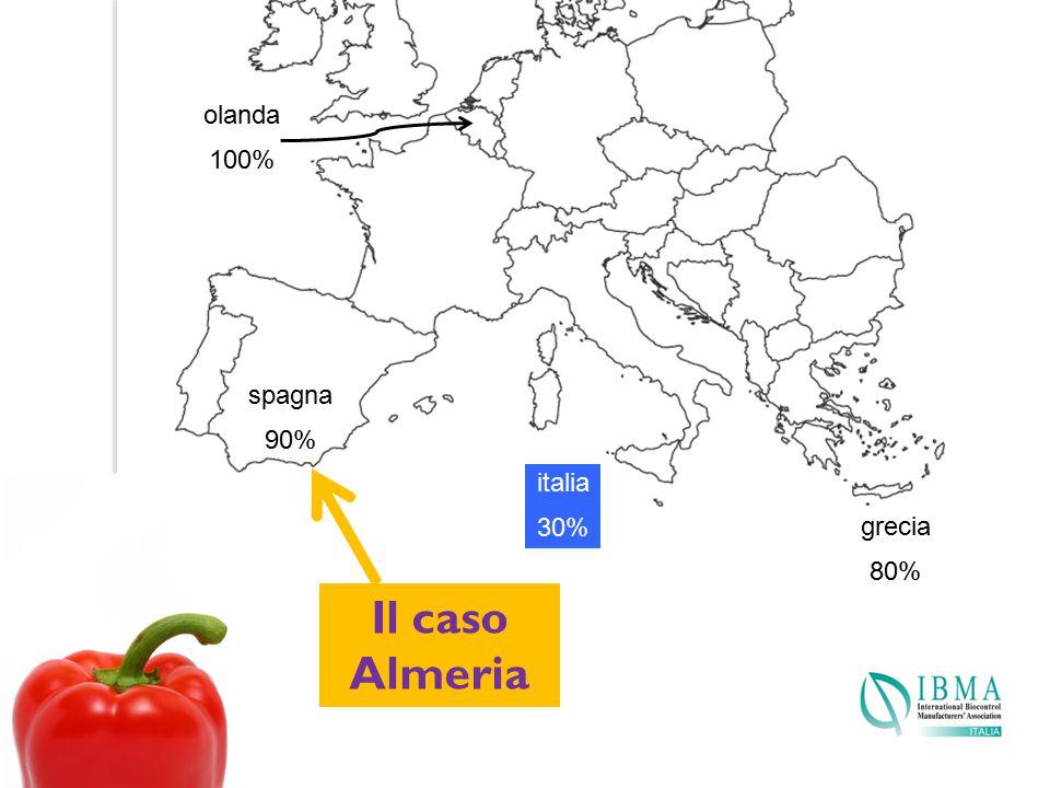 olanda 100% spagna 90% italia 30% grecia 80% Il caso Almeria