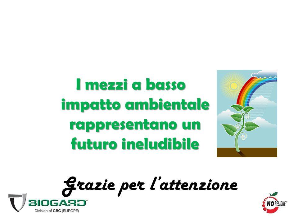 I mezzi a basso impatto ambientale rappresentano un futuro ineludibile Grazie per l'attenzione