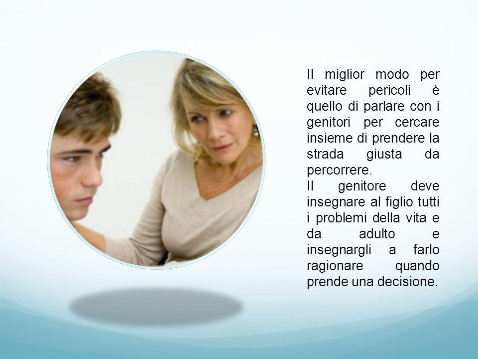 La prevenzione dei genitori Il miglior modo per evitare pericoli è quello di parlare con i genitori per cercare insieme di prendere la strada giusta d