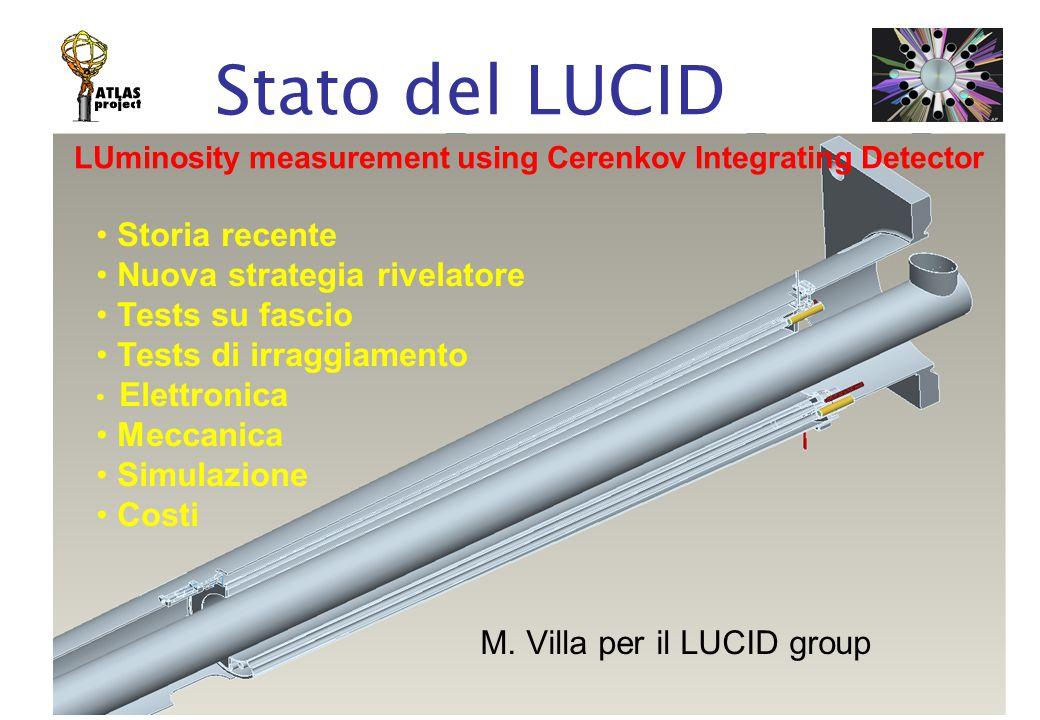 Commissione 1, Roma, 3 Aprile 2007M. Villa Stato del LUCID M.