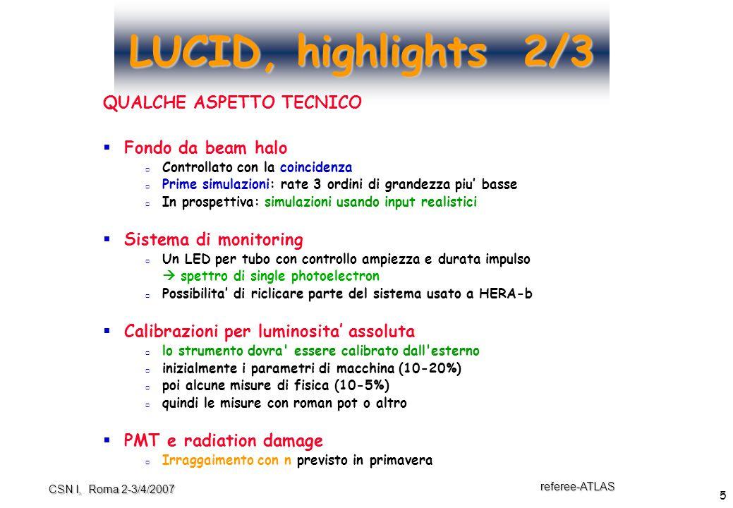 6 referee-ATLAS CSN I, Roma 2-3/4/2007 LUCID, highlights 3/3   l'approvazione in ATLAS  Jan.