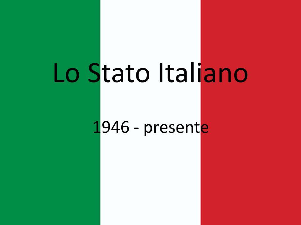 Lo Stato Italiano 1946 - presente