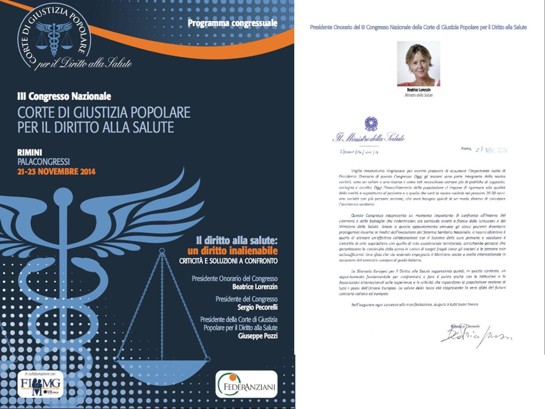 III Congresso Nazionale Corte di Giustizia Popolare per il Diritto alla Salute
