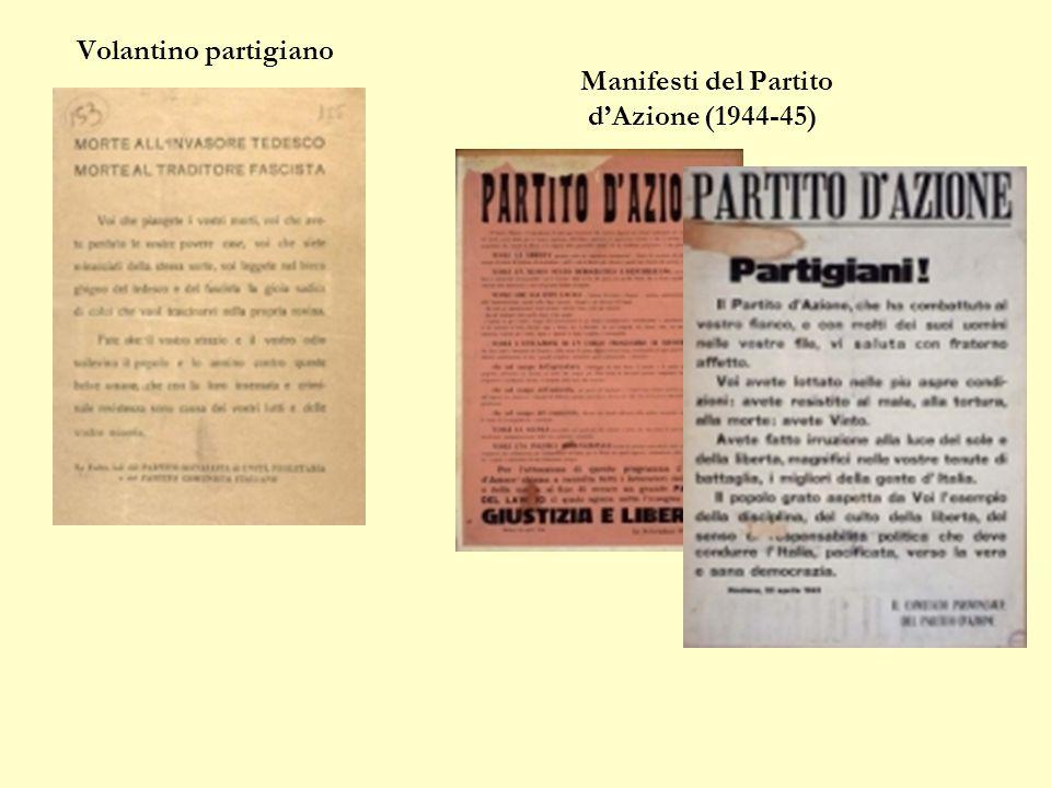 Volantino partigiano Manifesti del Partito d'Azione (1944-45)