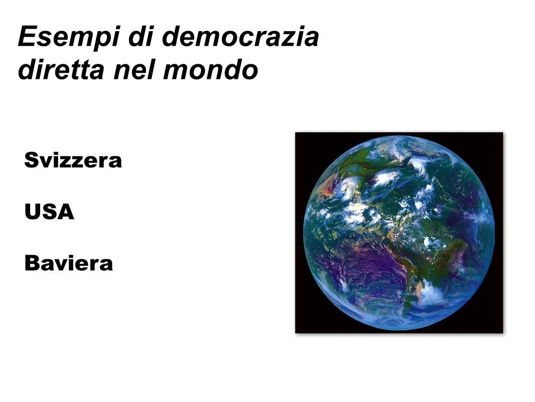 Democrazia Diretta in Svizzera Referendum Obbligatorio 1848 modifiche costituzione senza quorum In Italia la costituzione non è stata approvata dal popolo