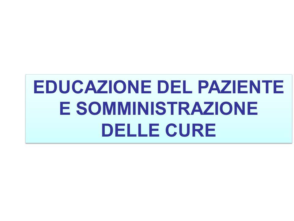 EDUCAZIONE DEL PAZIENTE E SOMMINISTRAZIONE DELLE CURE