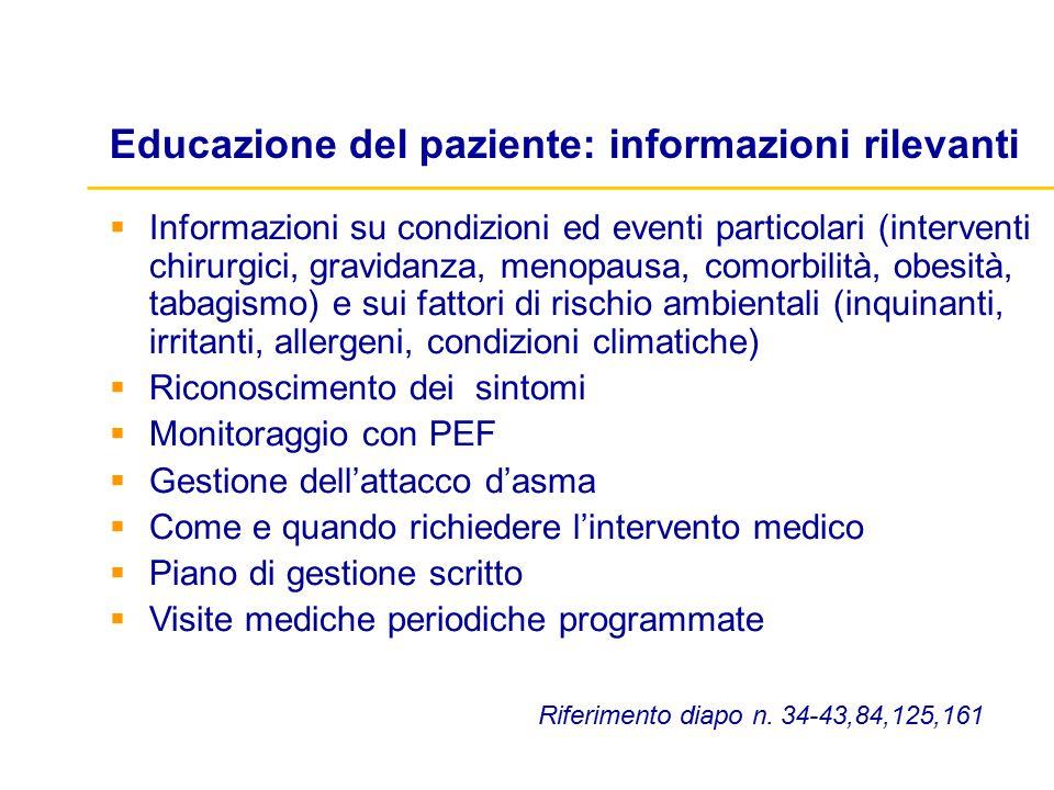  Informazioni su condizioni ed eventi particolari (interventi chirurgici, gravidanza, menopausa, comorbilità, obesità, tabagismo) e sui fattori di ri