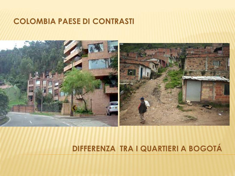 DIFFERENZA TRA I QUARTIERI A BOGOTÁ COLOMBIA PAESE DI CONTRASTI