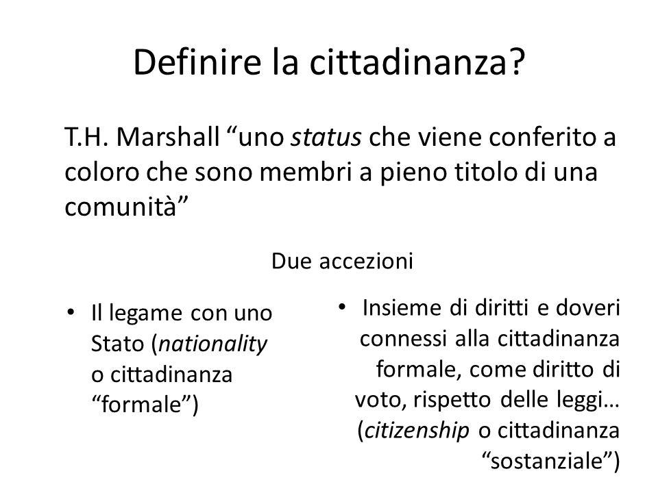 Definire la cittadinanza. T.H.