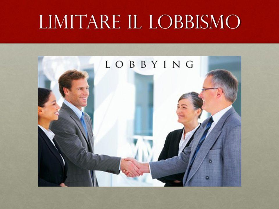 Limitare il lobbismo