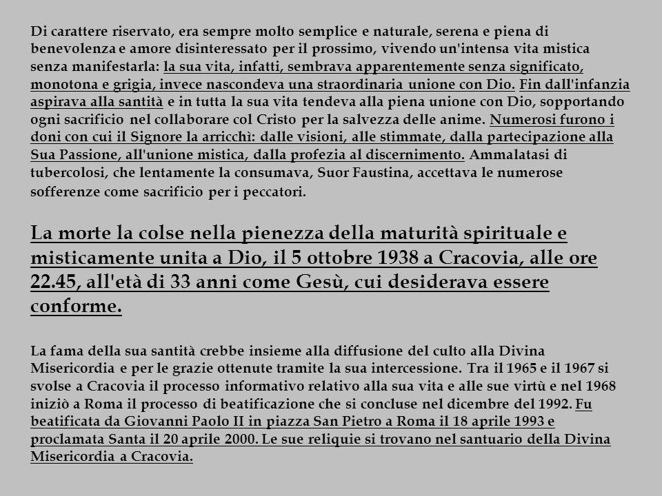 DIARIO La Misericordia divina nella mia anima I Quaderno (paragrafi 1-521 ) II Quaderno III Quaderno IV Quaderno V Quaderno VI Quaderno La mia preparazione alla Santa Comunione