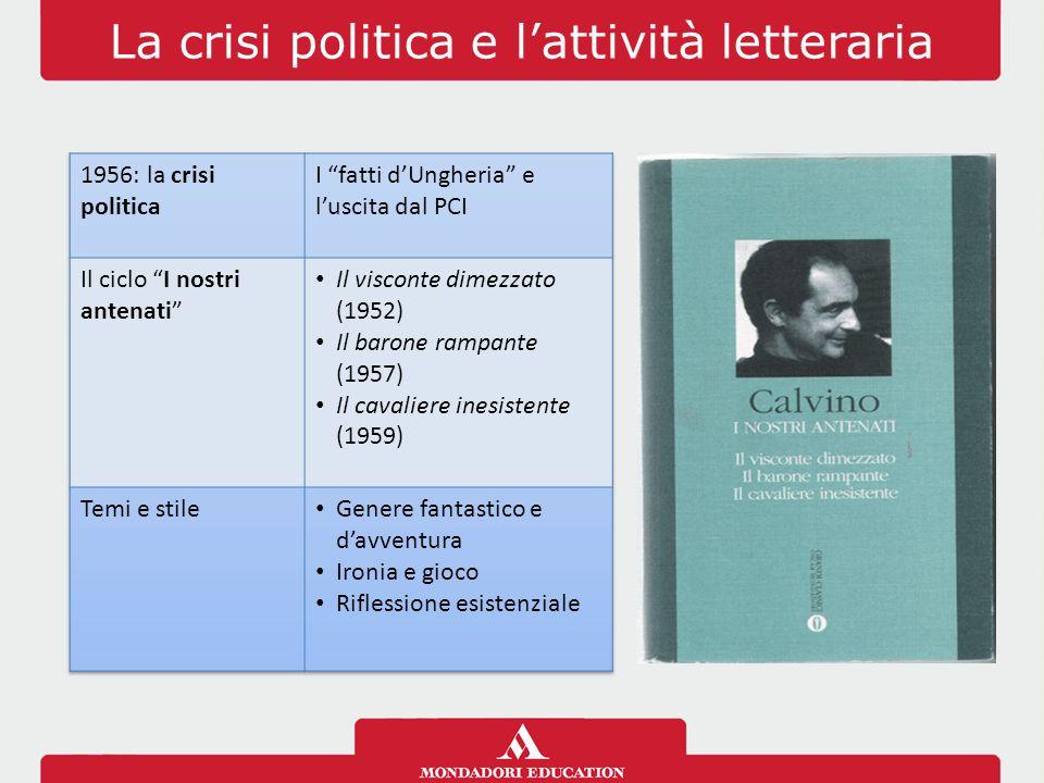 La crisi politica e l'attività letteraria