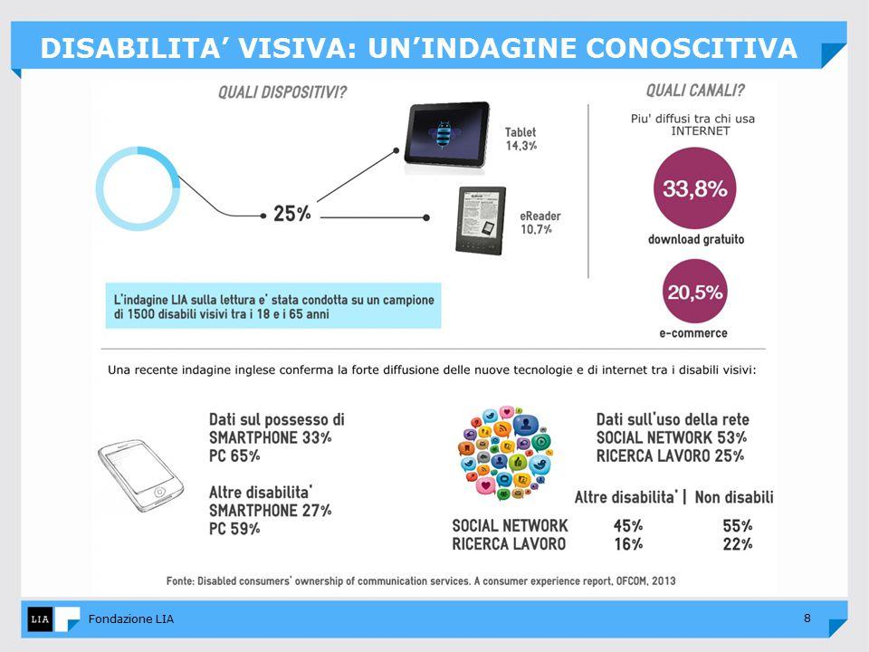 8 Fondazione LIA DISABILITA' VISIVA: UN'INDAGINE CONOSCITIVA