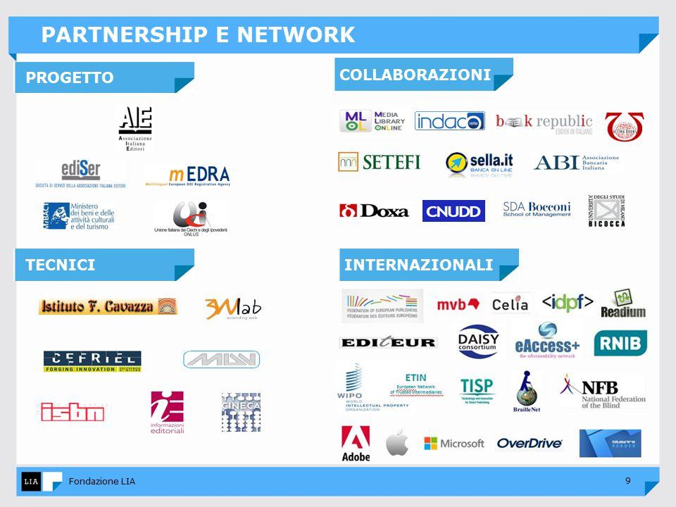9 Fondazione LIA PARTNERSHIP E NETWORK INTERNAZIONALITECNICI COLLABORAZIONI PROGETTO